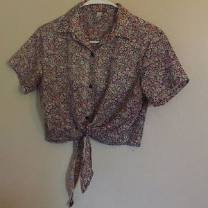 American apparel toe floral blouse xs/s